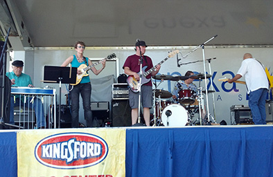 Lenexa BBQ Fest, playing with Billy Ebeling and the Late for Dinner Band