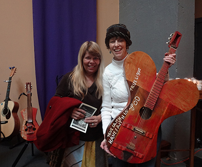with Donna Stjerna from Still on the Hill and the butterfly guitar