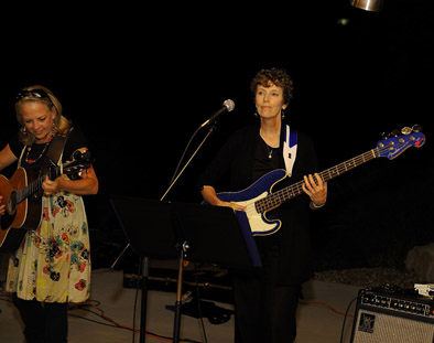 Cindy and the Blackstock Band playing for the Shawnee Rotary Club on Sept. 8.